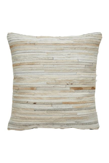 Image of Modern Threads Aliso Decorative Leather Pillow Cover