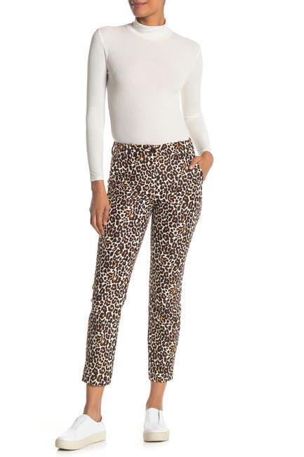 Image of J. Crew Leopard Print Slim Pants