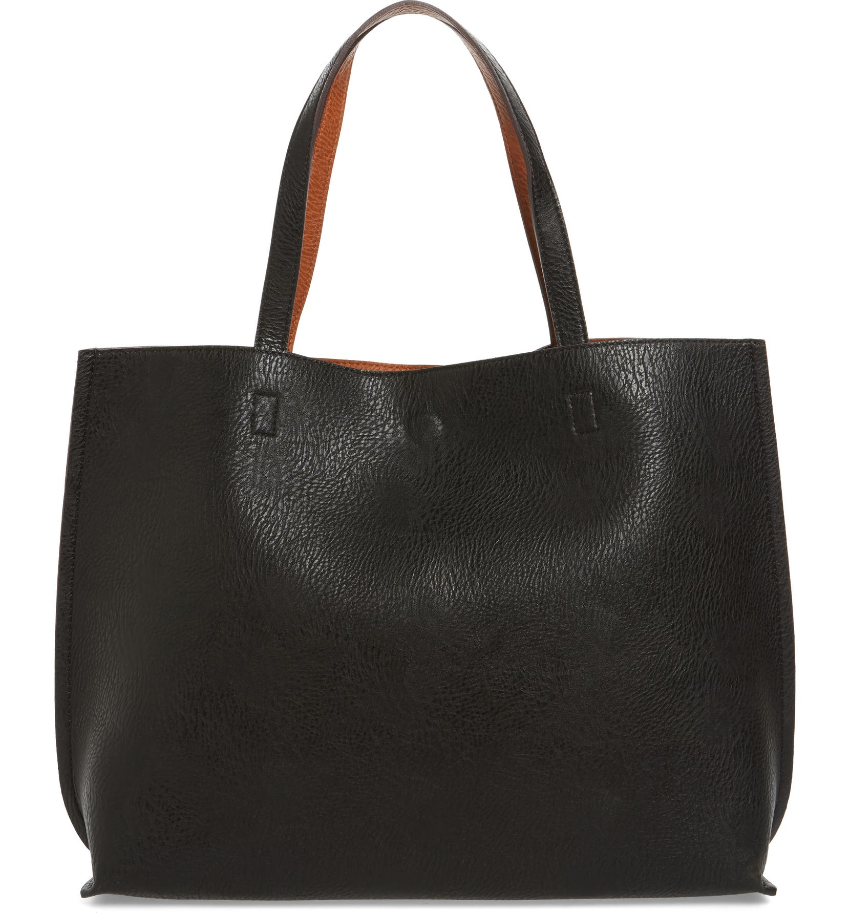 58614a702239c Street Level Reversible Faux Leather Tote & Wristlet | Nordstrom