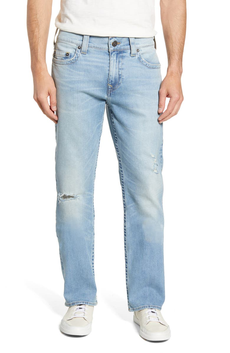 TRUE RELIGION BRAND JEANS True Religion Ricky Straight Leg Jeans, Main, color, WORN BLUE TIDE