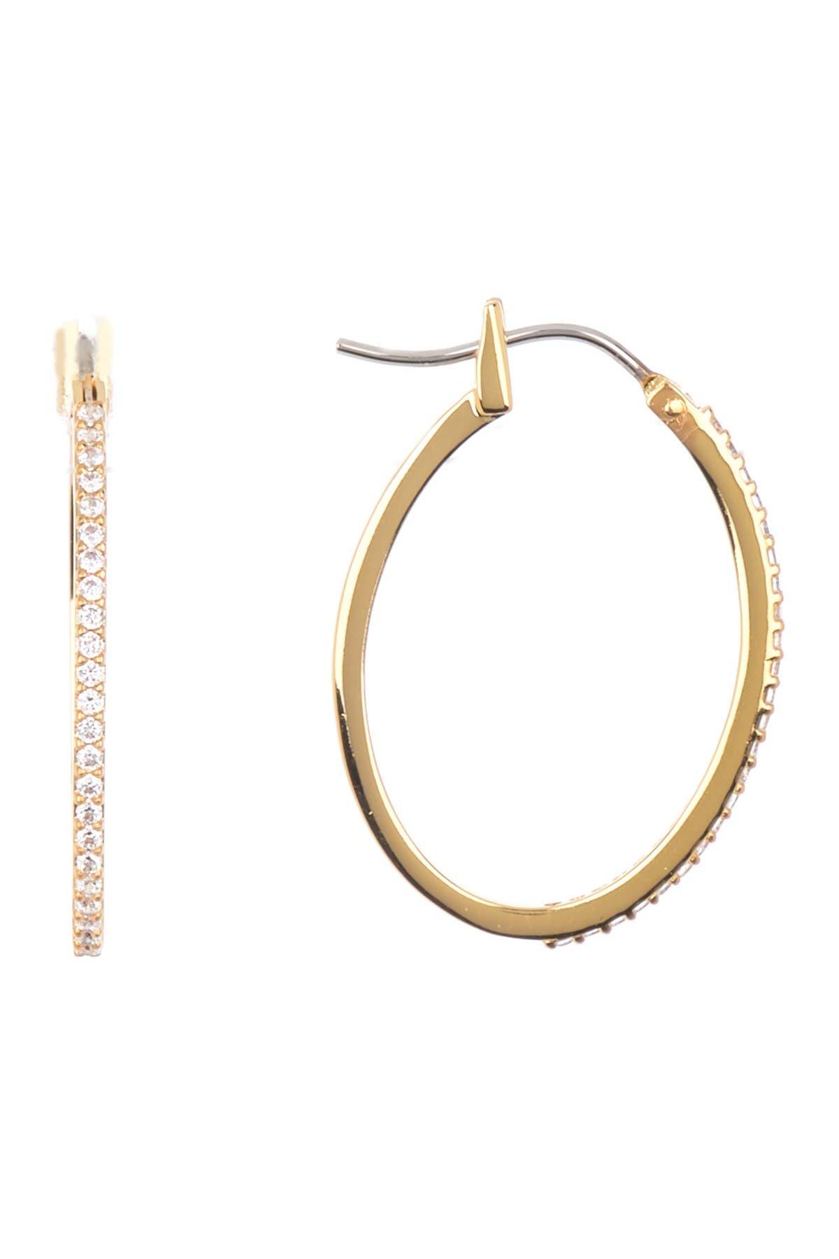 Image of Nordstrom Rack Oval Pave Hoop Earrings
