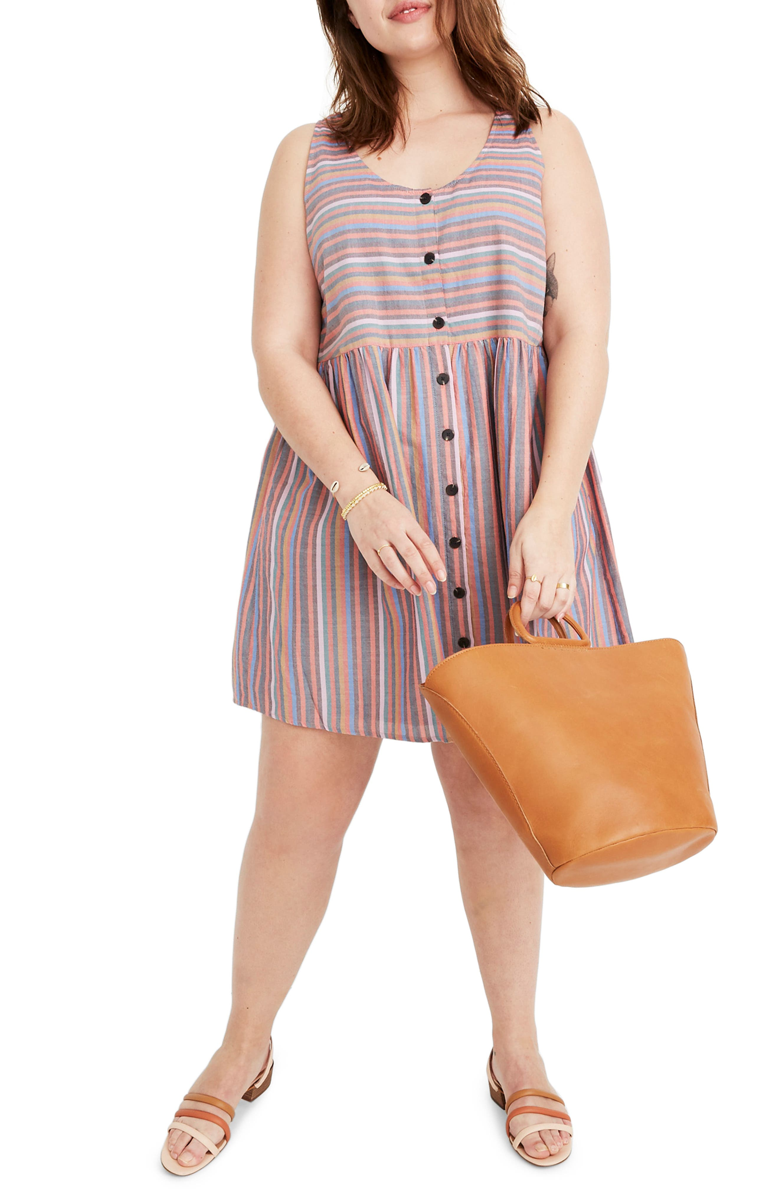 ,                             Rainbow Stripe Tank Dress,                             Alternate thumbnail 4, color,                             MULLED WINE SMITH STRIPE