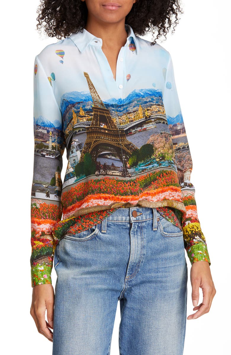 Alice Olivia Willa Silk Blouse Nordstrom