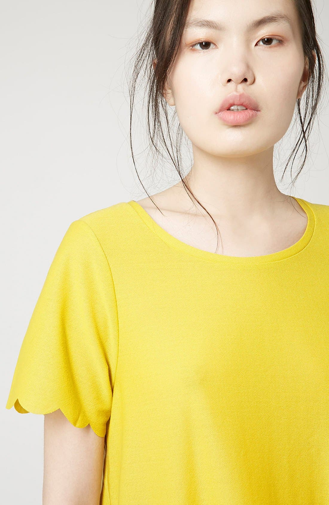 ,                             Scallop Frill Tee,                             Alternate thumbnail 31, color,                             700