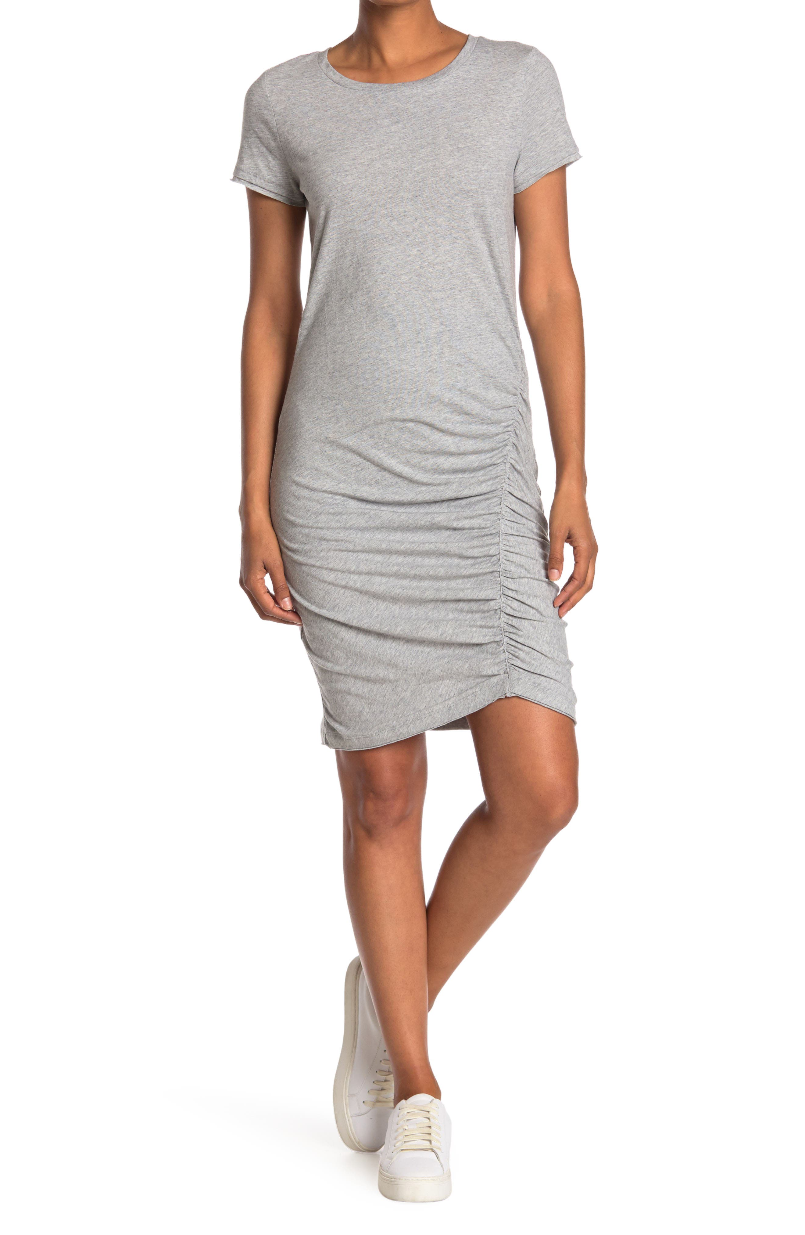 Image of SUSINA Ruched T-Shirt Dress
