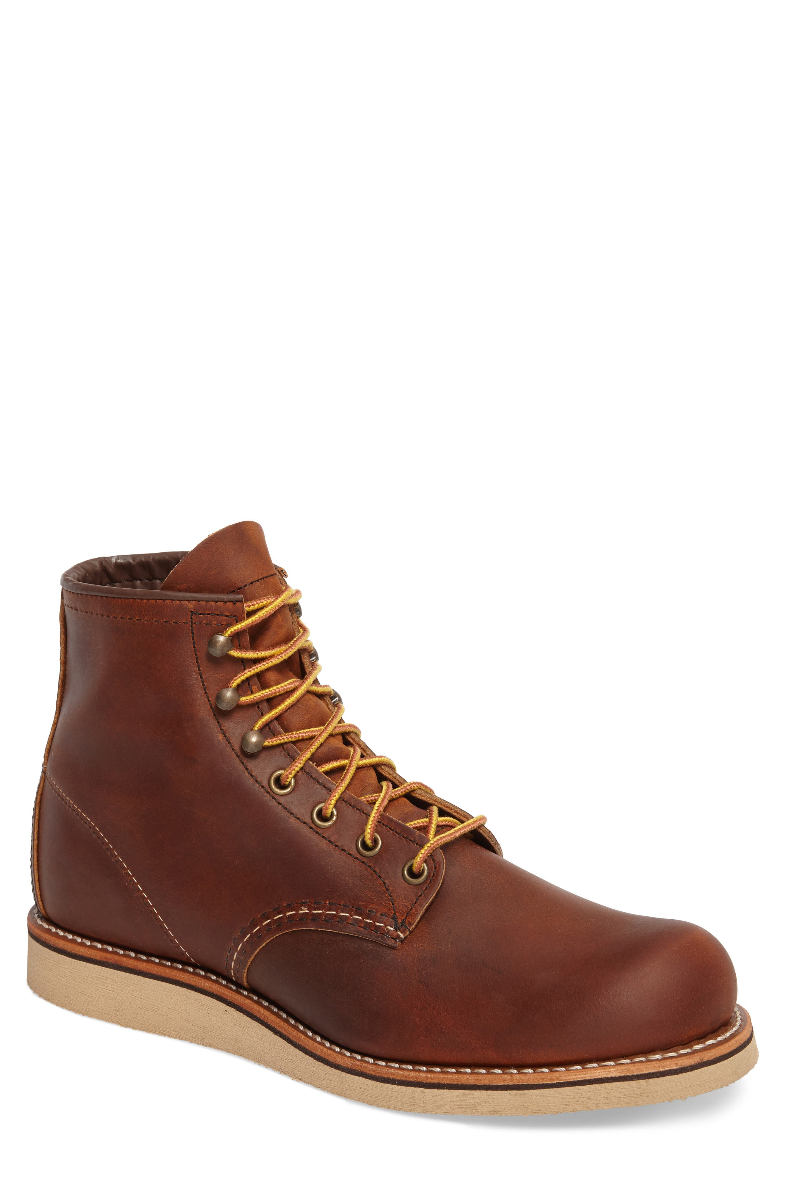 Red Wing Rover Plain Toe Boot, Brown