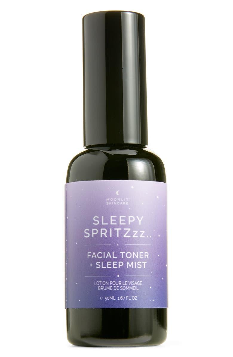 MOONLIT SKINCARE Sleepy Spritz Facial Toner & Sleep Mist, Main, color, NONE