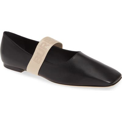 Burberry Pennine Mary Jane Flat - Black