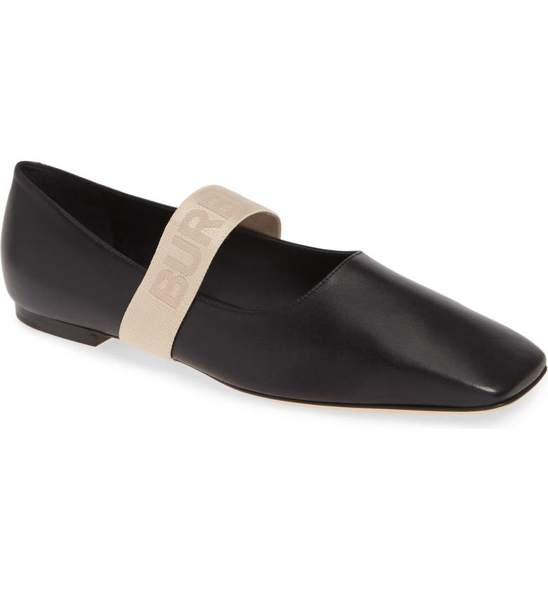 BURBERRY Pennine Mary Jane Flat, Main, color, 001