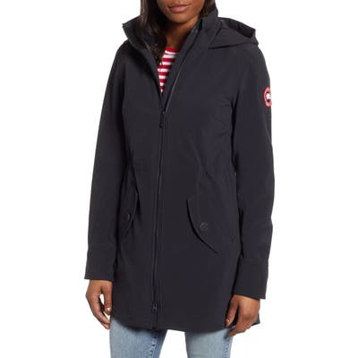 Canada Goose Avery Water Resistant Hooded Softshell Jacket, Black