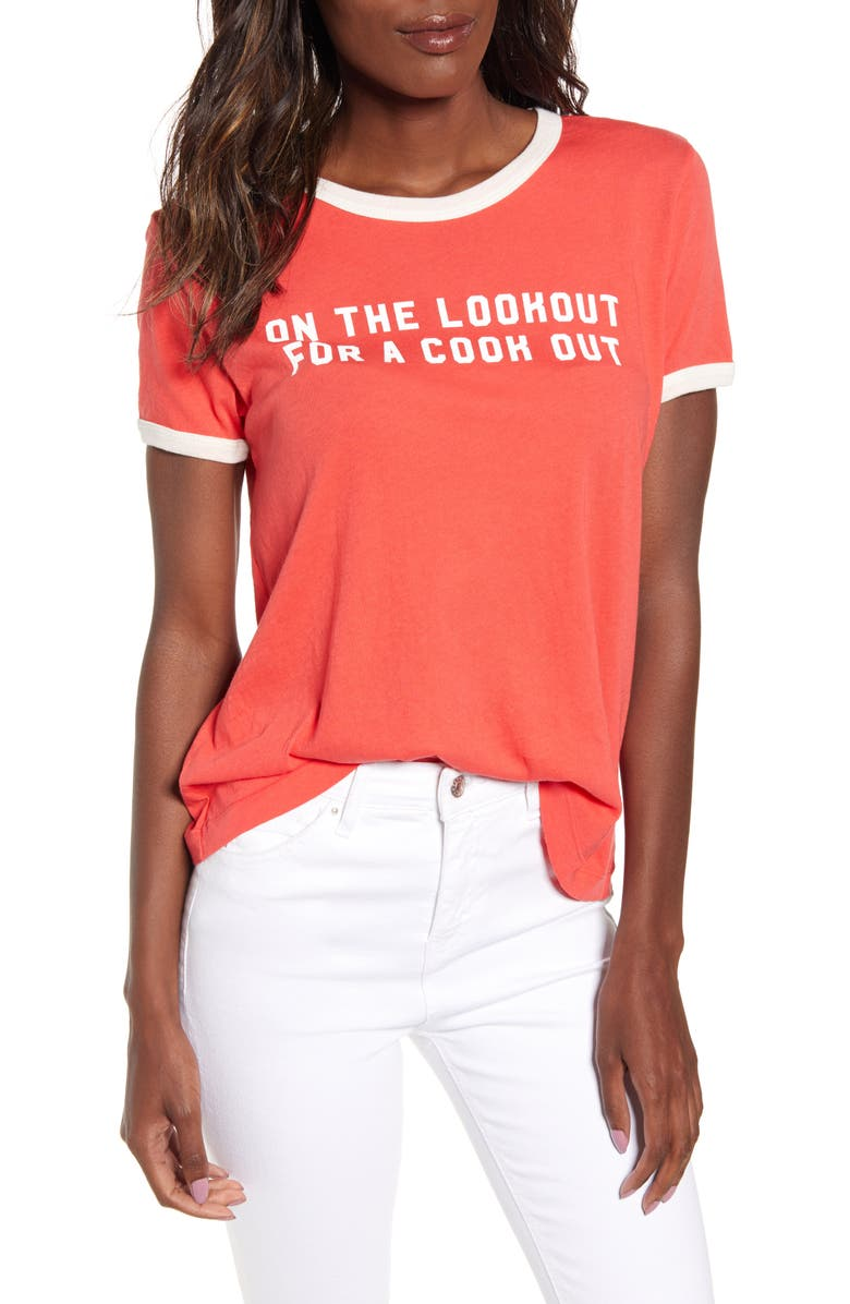 Wildfox On The Lookout Johnny Ringer Tee