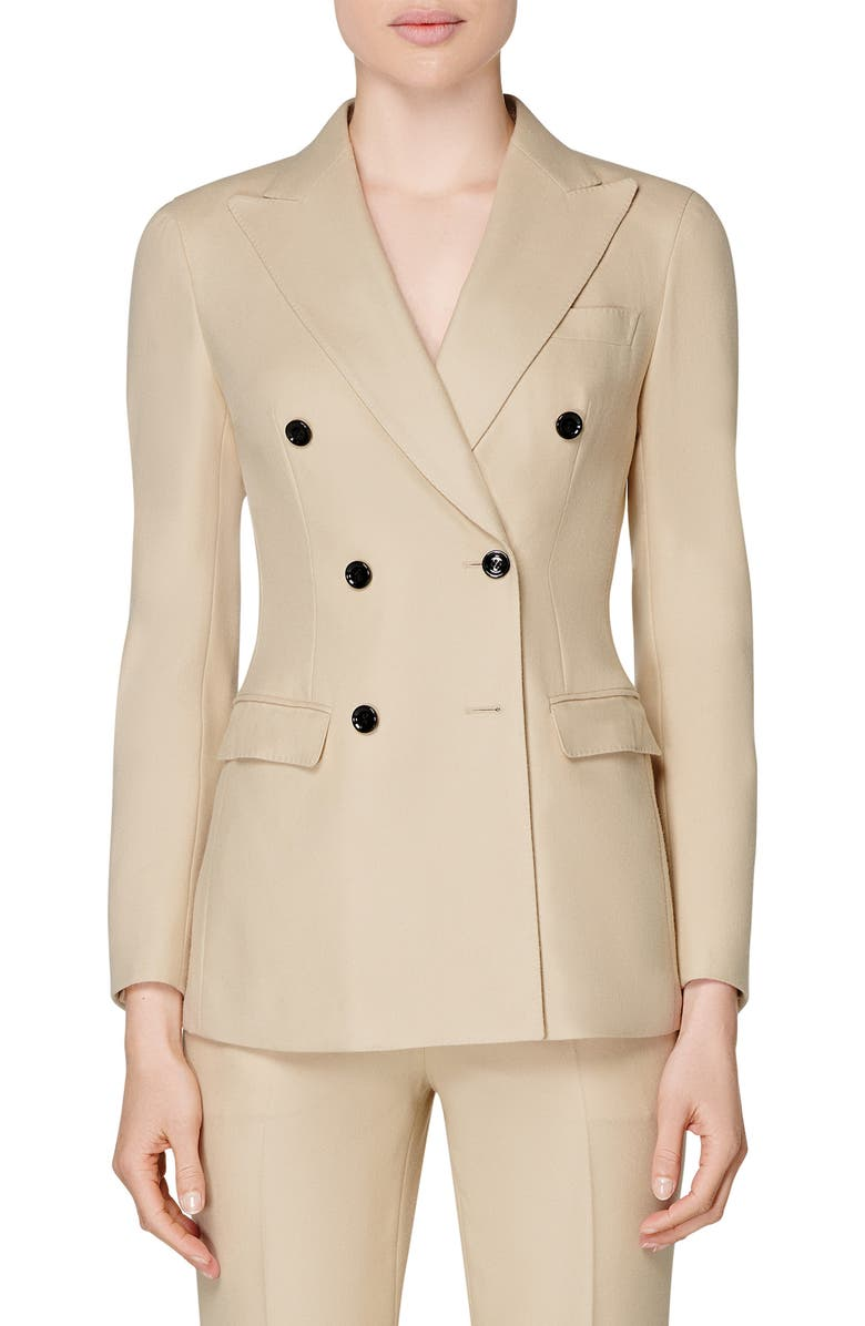SUISTUDIO Cameron Double Breasted Wool Suit Jacket, Main, color, 250