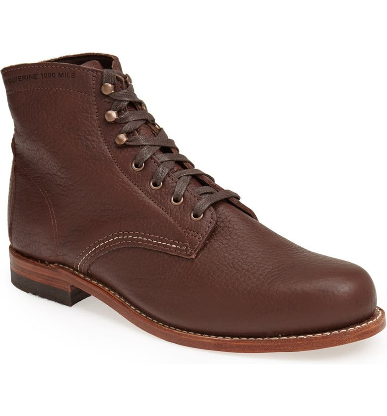 WOLVERINE '1000 Mile - Centennial' Round Toe Boot, Main, color, 200