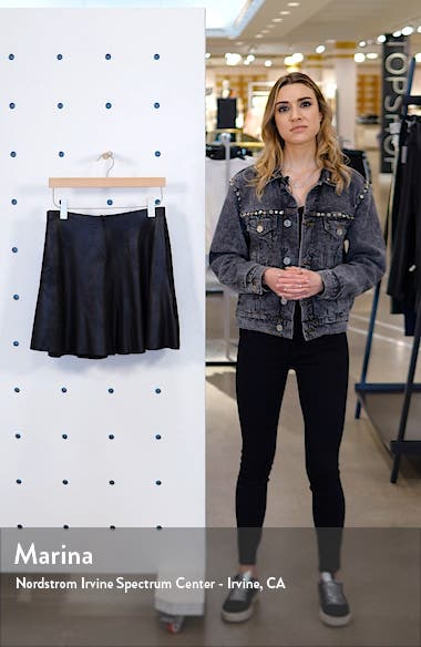 Faux Leather Skater Skirt, sales video thumbnail