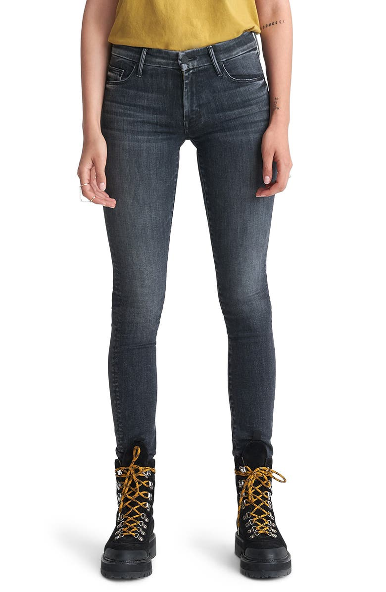 MOTHER Looker Mid Rise Skinny Jeans, Main, color, NIGHT OWL