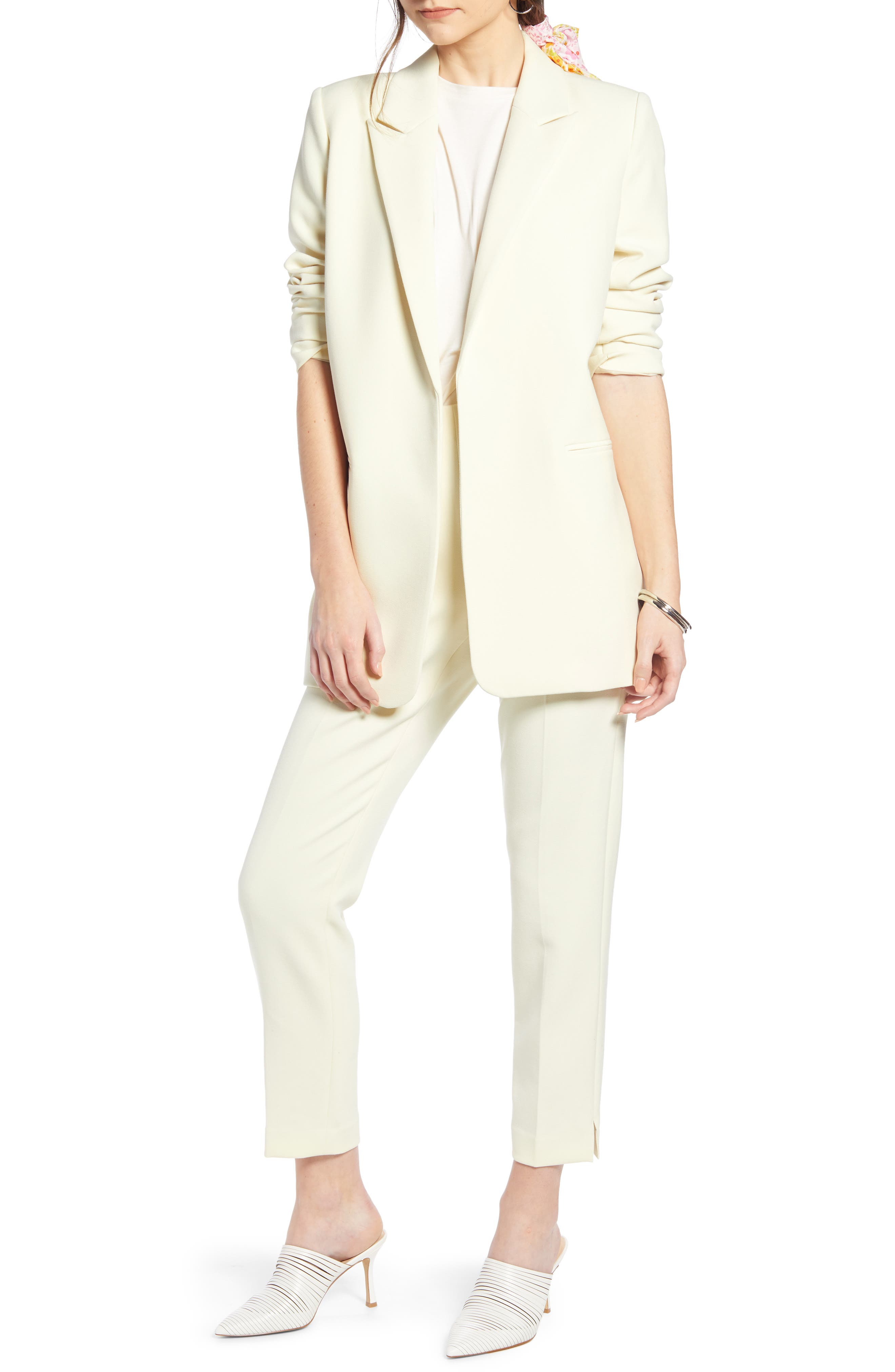 ,                             Easy Clean Blazer,                             Alternate thumbnail 9, color,                             YELLOW FROST