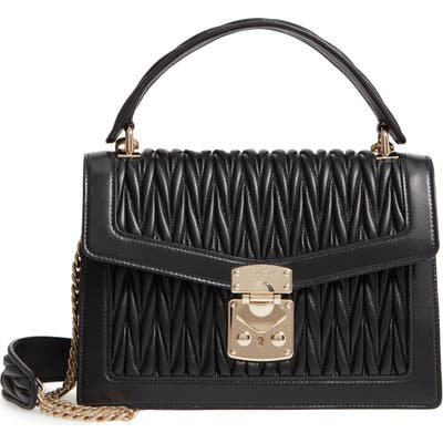 Miu Miu Confidential Matelasse Quilted Lambskin Leather Top Handle Bag -