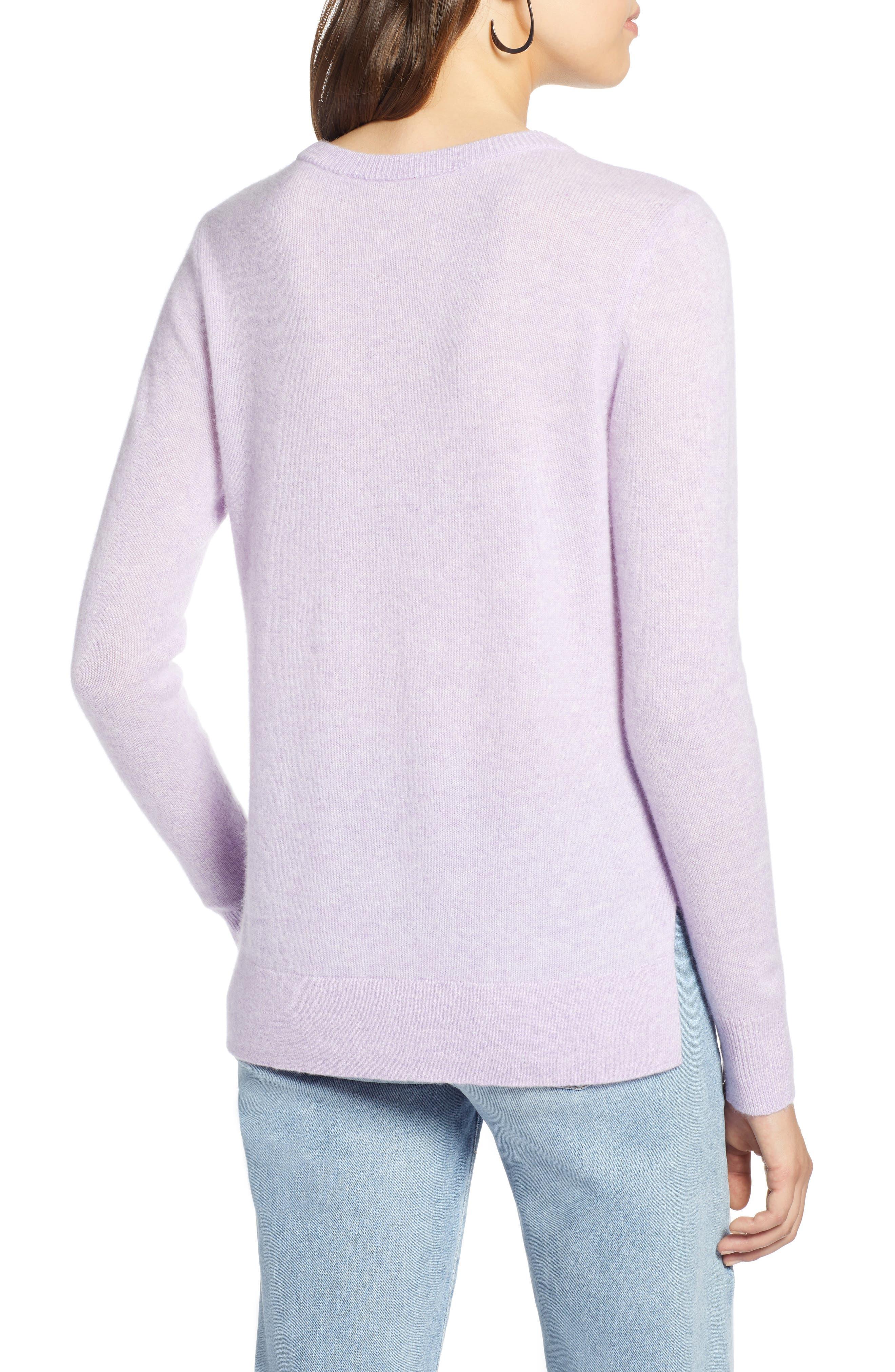 ,                             Crewneck Cashmere Sweater,                             Alternate thumbnail 125, color,                             500