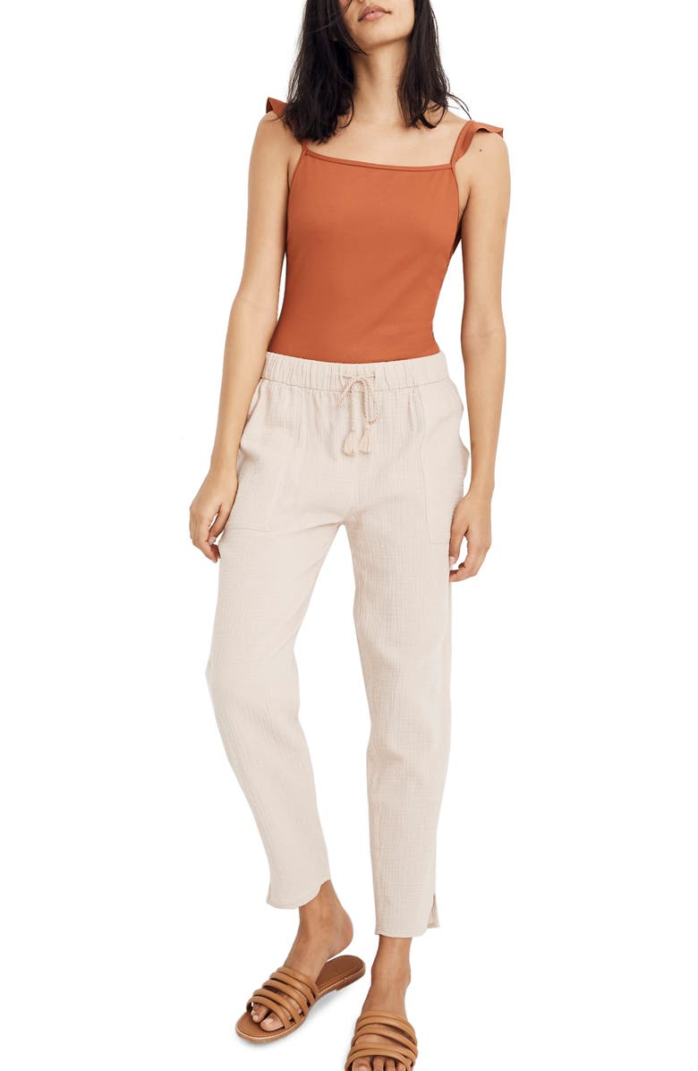 MADEWELL Beach Cover-Up Track Trousers, Main, color, 656