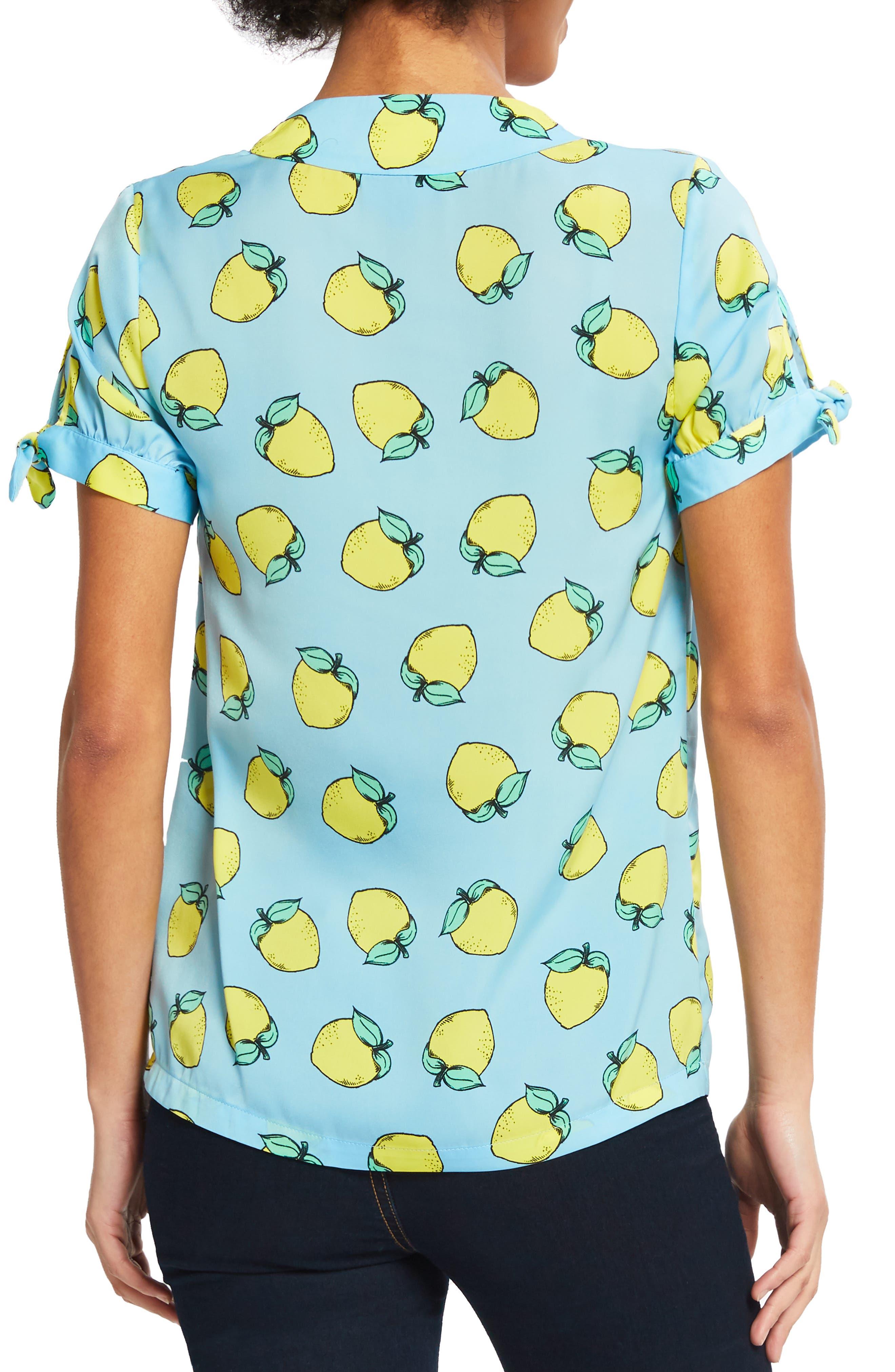 ,                             Lemon Print Top,                             Alternate thumbnail 2, color,                             LEMON PRINT