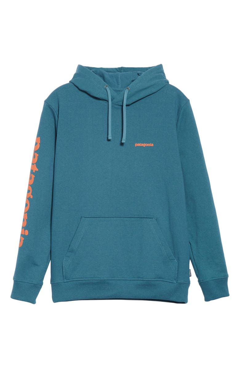 PATAGONIA Text Logo Uprisal Hoodie, Main, color, 400