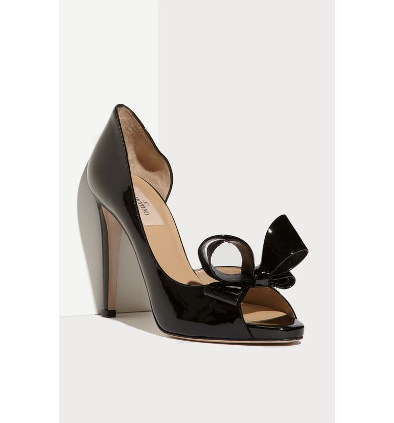 VALENTINO GARAVANI Couture Bow d'Orsay Pump, Main, color, 001