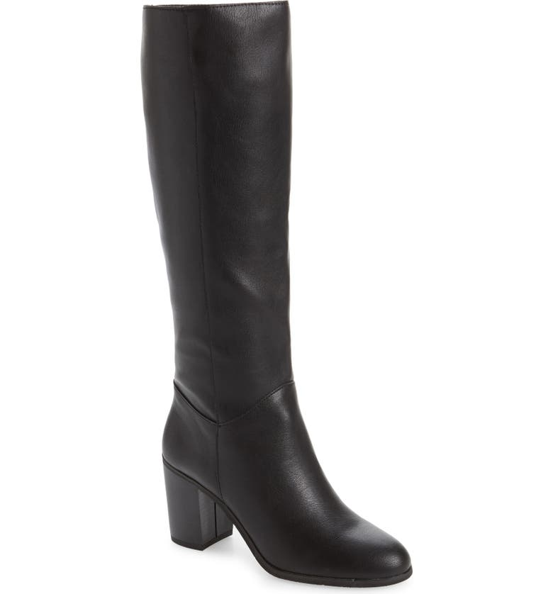 BC FOOTWEAR Make an Impact Vegan Leather Boot, Main, color, BLACK FAUX LEATHER