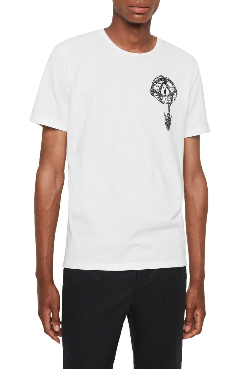 ALLSAINTS Chained Graphic Crewneck T-Shirt, Main, color, OPTIC WHITE
