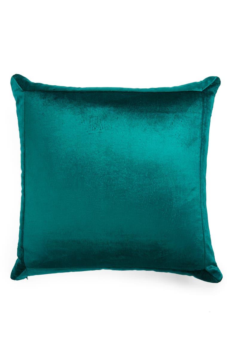 RACHEL PARCELL Shimmer Velvet Accent Pillow, Main, color, GREEN BOTANICAL