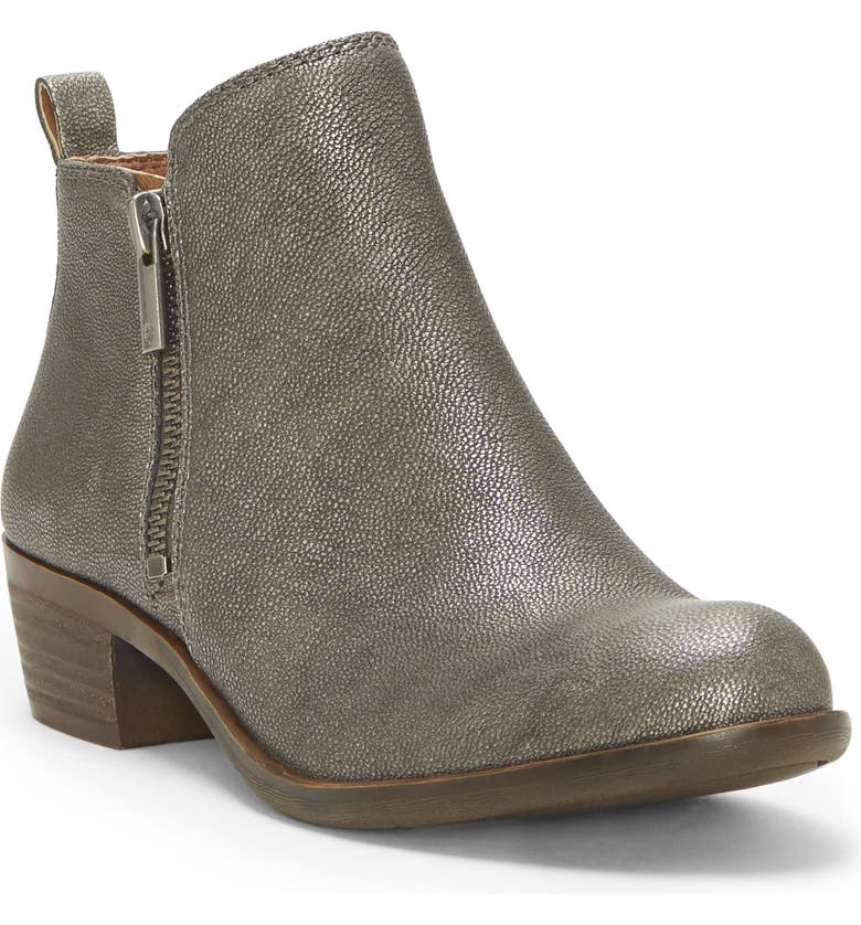 LUCKY BRAND Basel Bootie, Main, color, PEWTER SUEDE