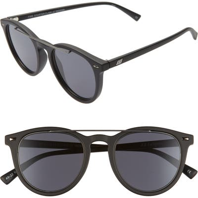 Le Specs Fire Starter Round Sunglasses - Matte Black