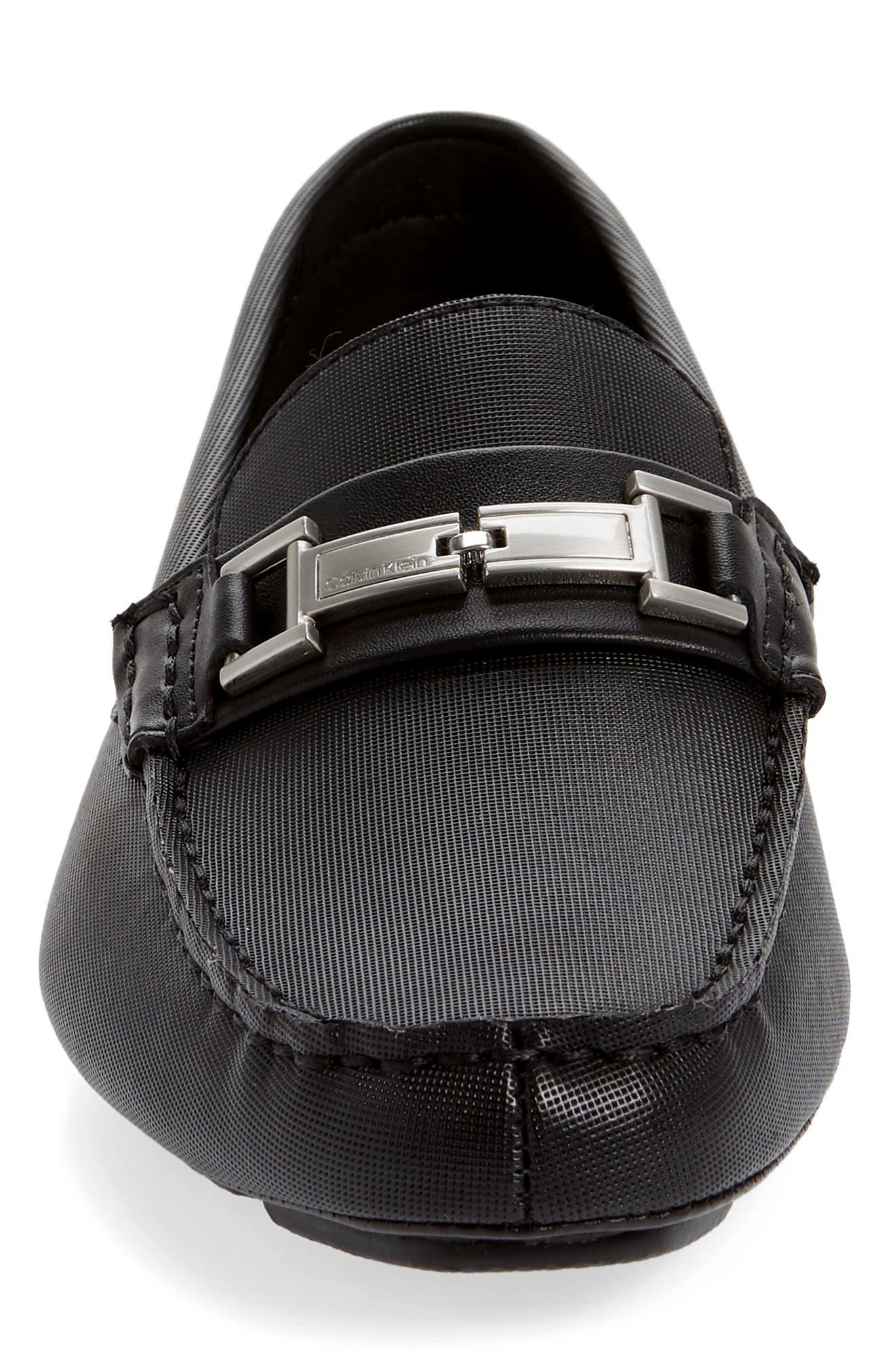 ,                             Magnus Driving Shoe,                             Alternate thumbnail 4, color,                             BLACK LEATHER