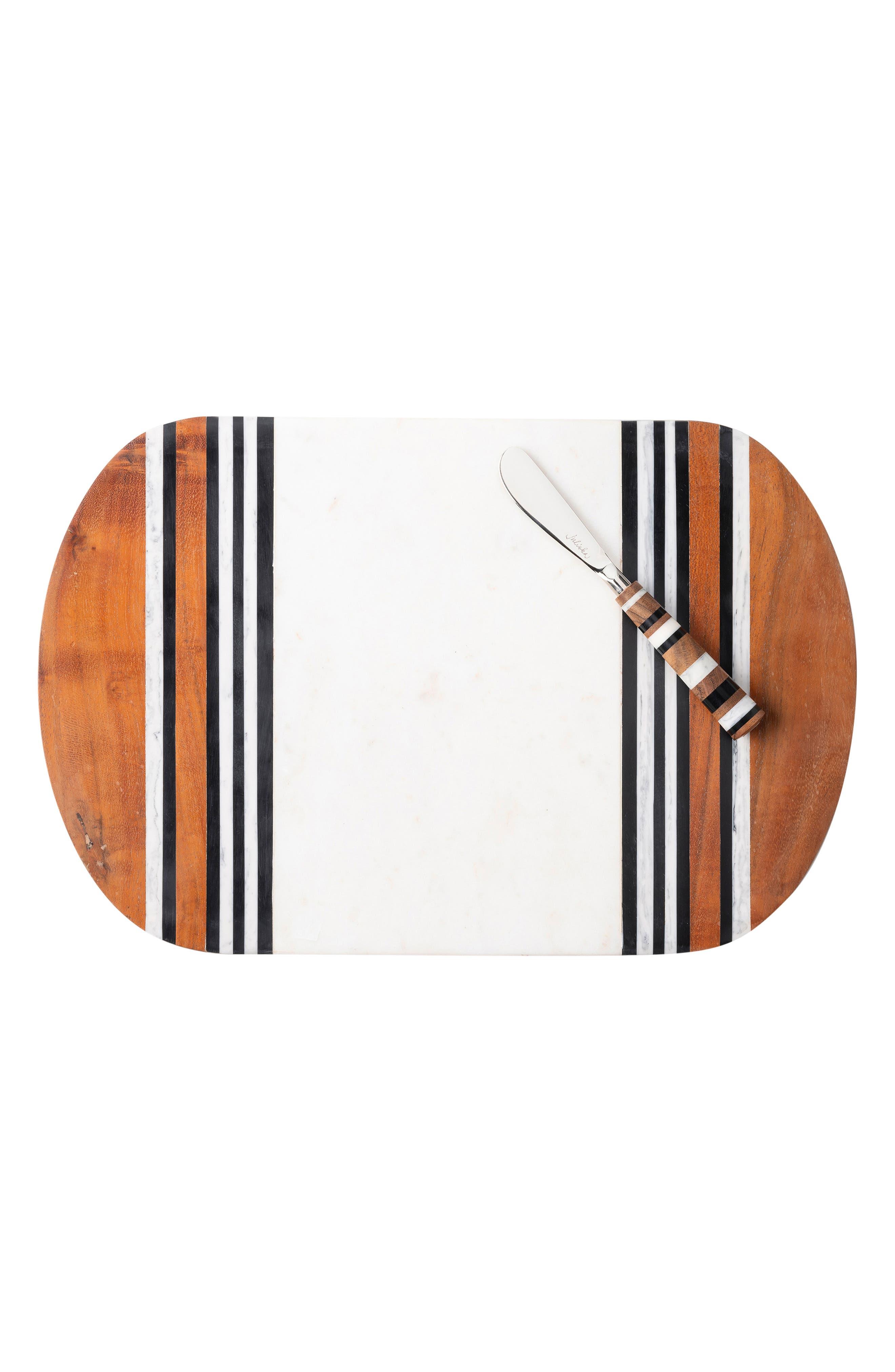 Stonewood Stripe Serving Board & Spreader, Main, color, NATURAL STRIPE