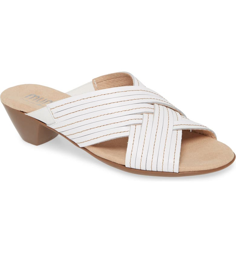 MUNRO Kelsey Sandal, Main, color, WHITE LEATHER
