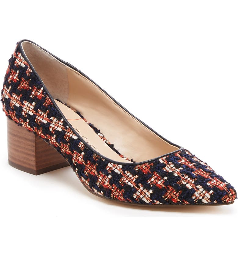 SOLE SOCIETY Andorra Pump, Main, color, RED/ NAVY MULTI FABRIC