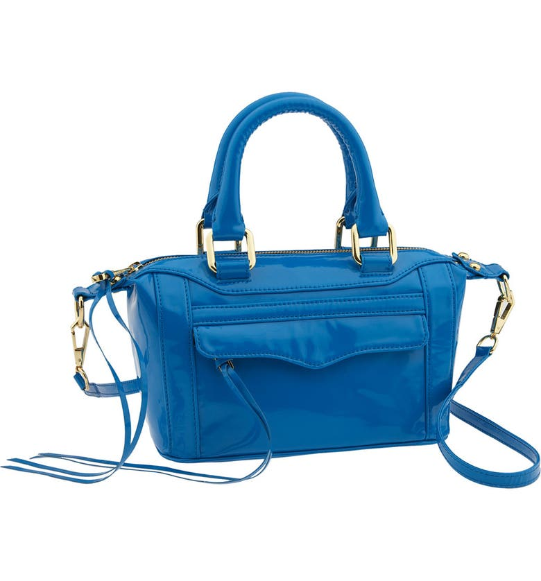 REBECCA MINKOFF 'Mini Mini MAB' Faux Patent Leather Bag, Main, color, 400