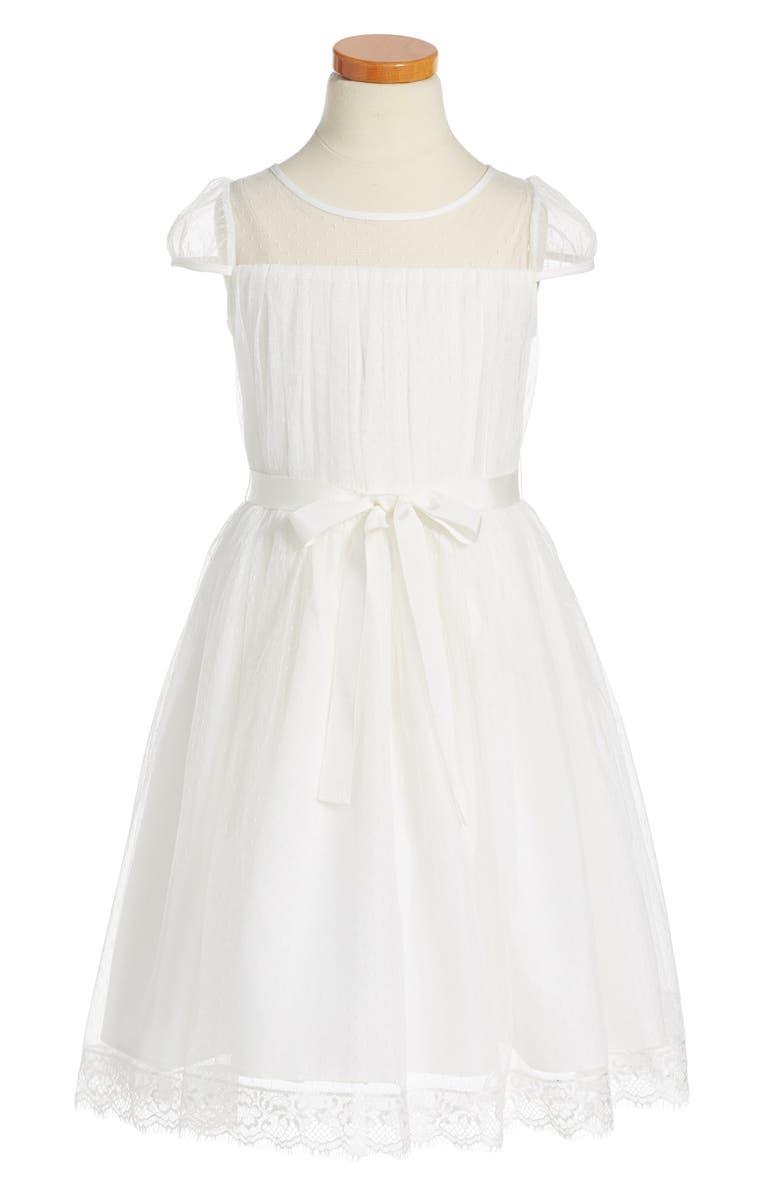 US ANGELS Point d'Esprit Dress, Main, color, 115