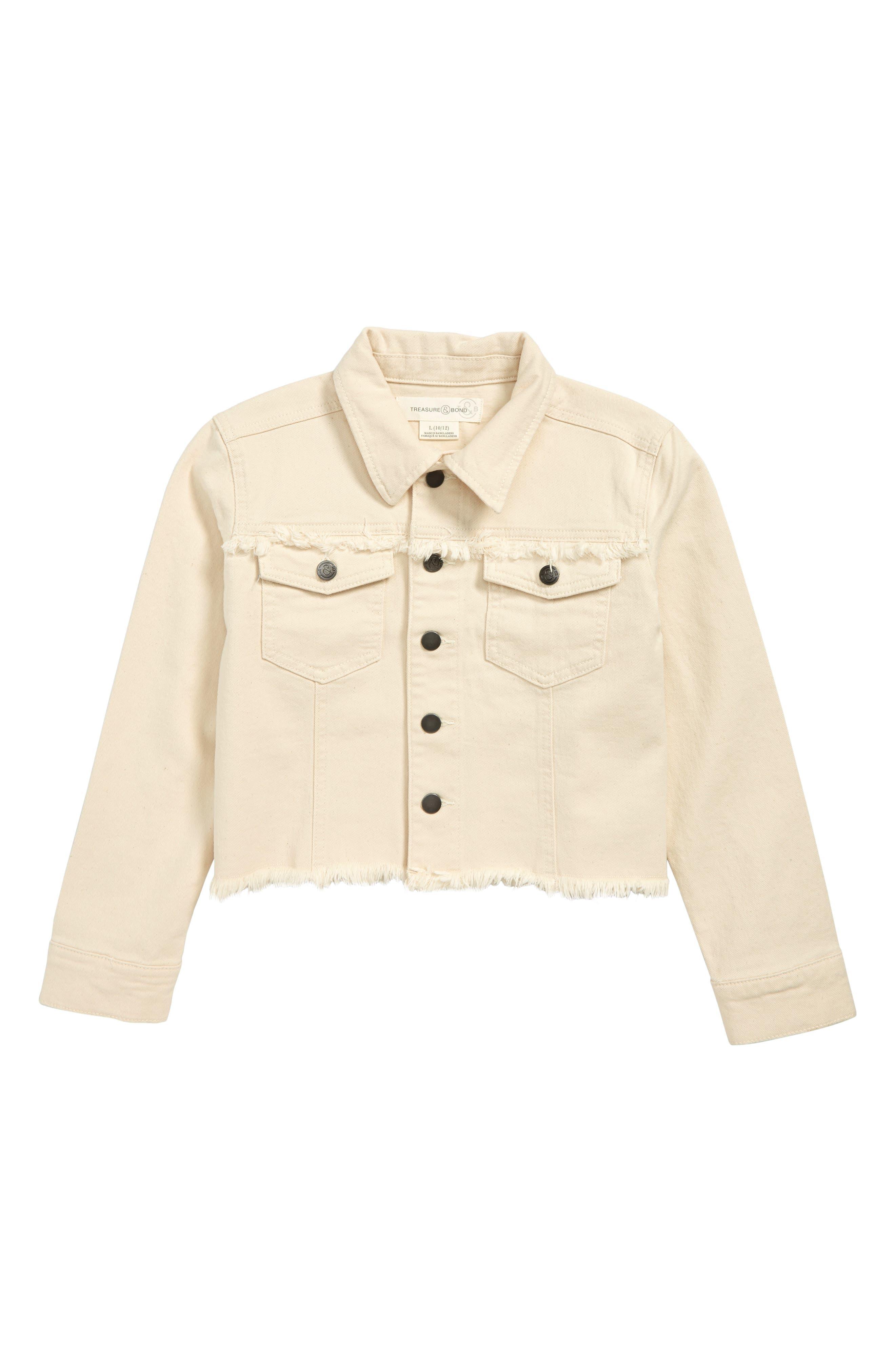 Cropped Denim Jacket, Main, color, RAW DENIM WASH