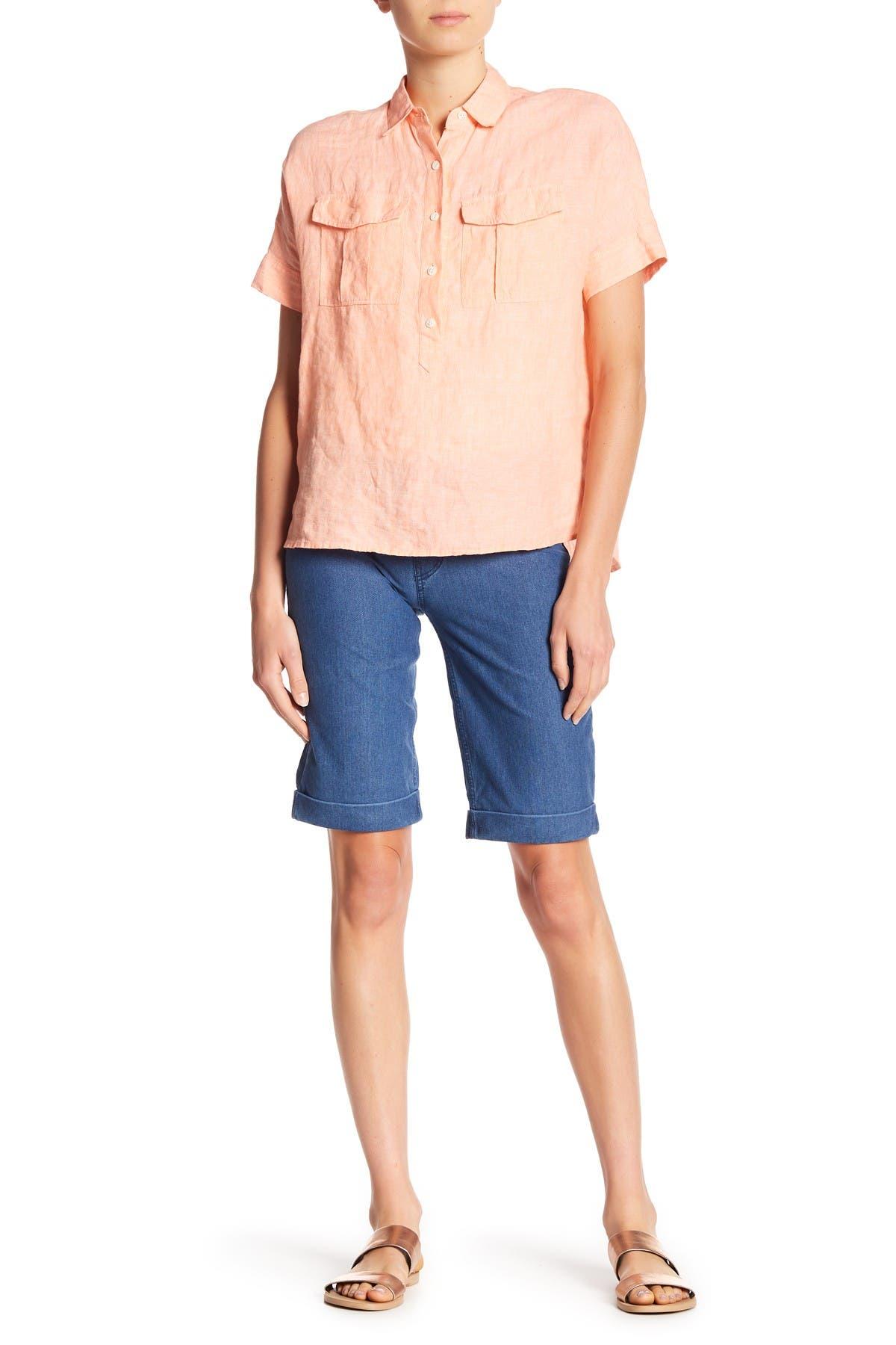 Image of HUE Essential Boyfriend Cuffed Shorts