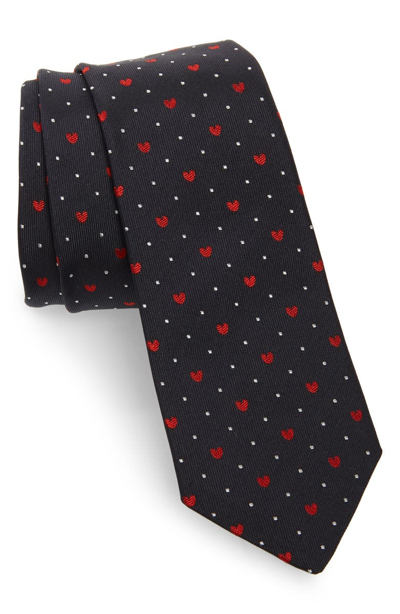 PAUL SMITH Heart Silk Tie, Main, color, 400