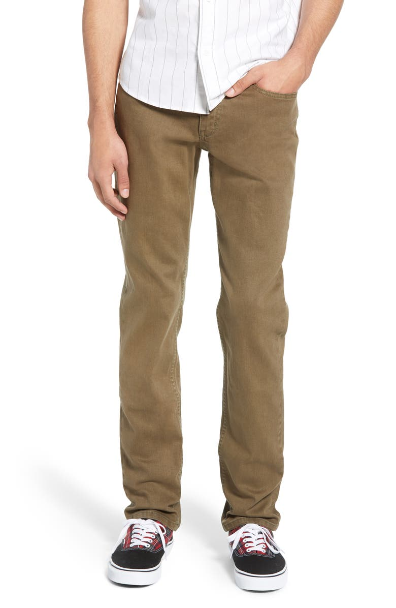 THE RAIL Skinny Fit Jeans, Main, color, OLIVE TREE