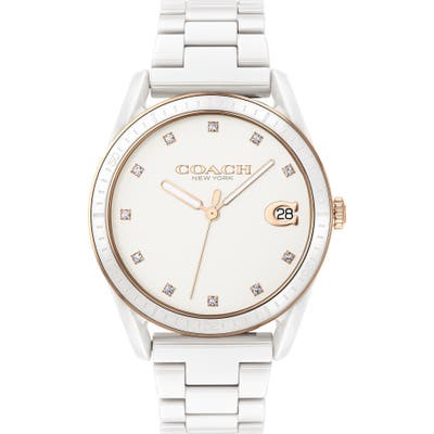 Coach Preston Ceramic Bracelet Watch,