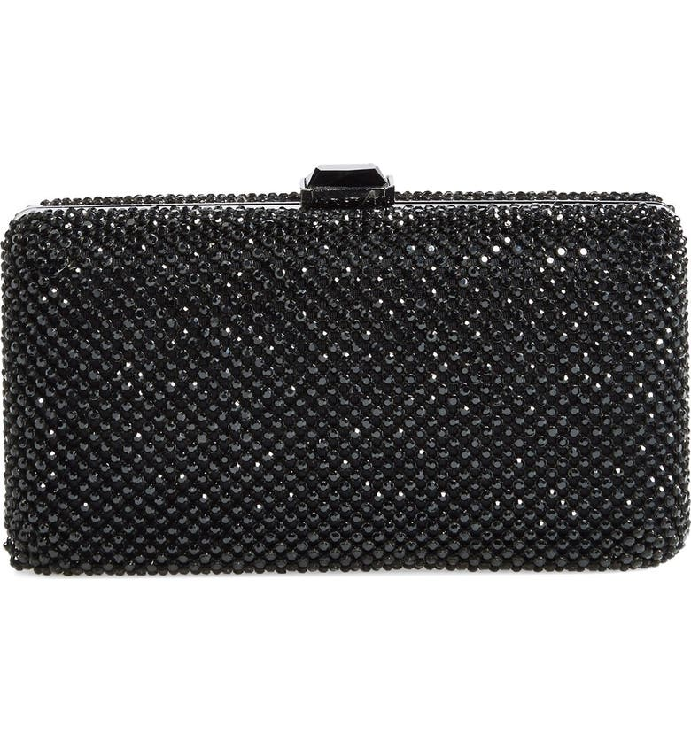 SONDRA ROBERTS Crystal Mesh Box Clutch, Main, color, 001