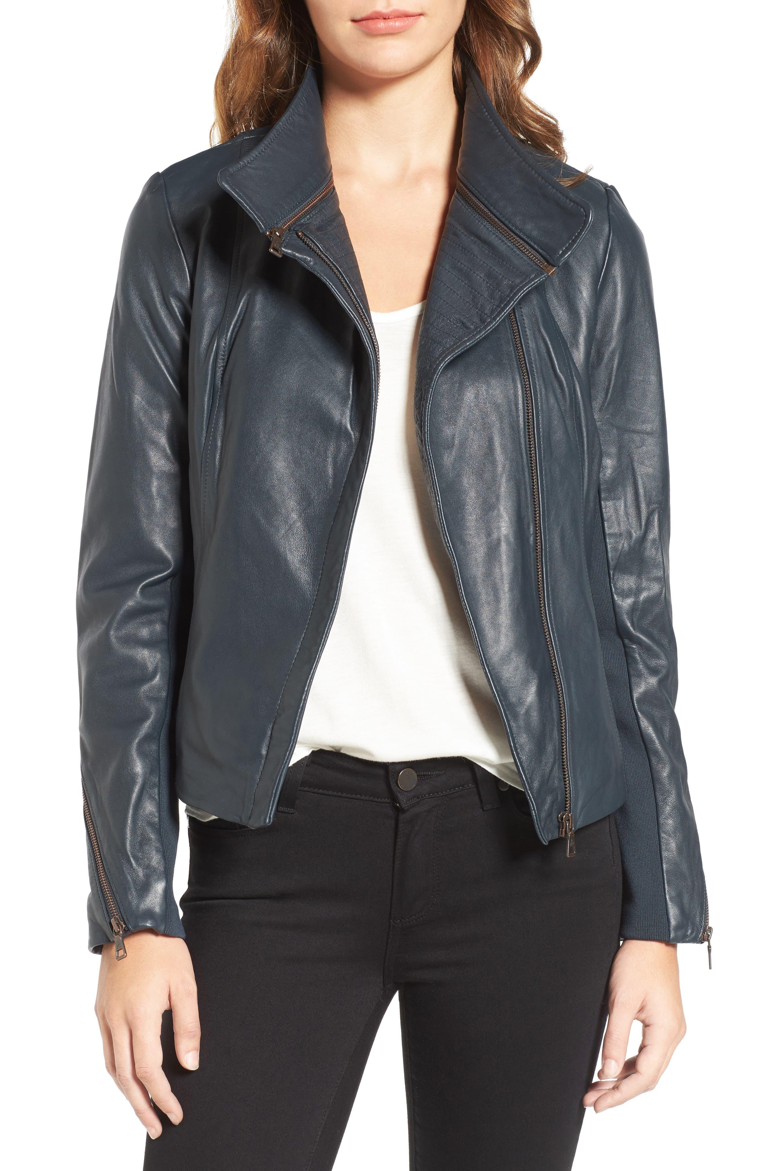,                             Zip Detail Moto Jacket,                             Main thumbnail 4, color,                             431