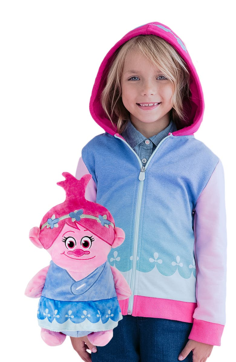 CUBCOATS DreamWorks Trolls Poppy 2-in-1 Stuffed Animal Hoodie, Main, color, MULTI