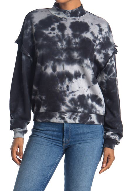 Image of MAUBY Mock Neck Tie Dye Print Pullover