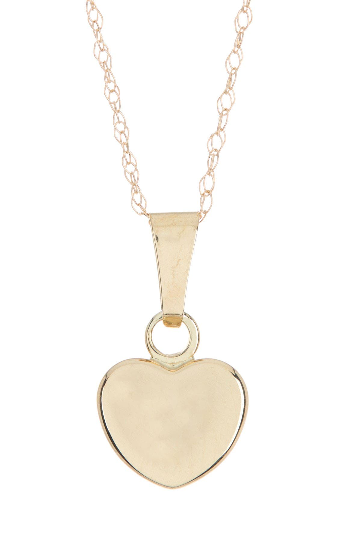 Image of Candela 10K Yellow Gold Puffed Heart Pendant Necklace