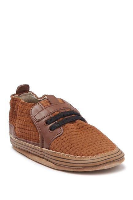 Image of Robeez Jude Woven Leather Sneaker