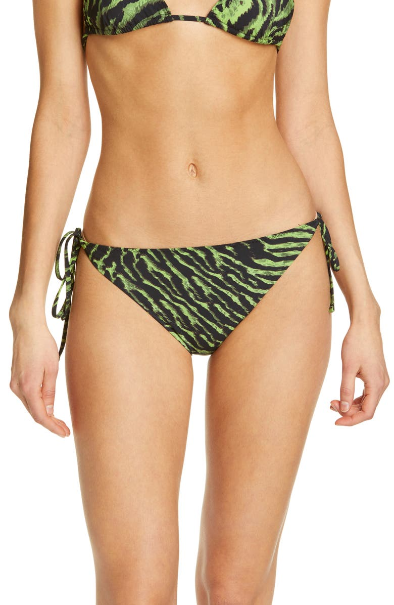 GANNI Tiger Print Bikini Bottoms, Main, color, 300