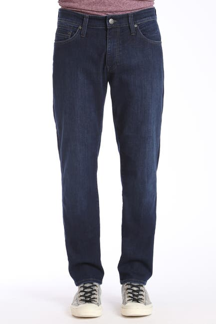 "Image of Mavi Matt Relaxed Straight Jeans - 30-34"" Inseam"